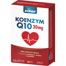 Vitar Koenzym Q10 (30 mg) + vitamin E + selen + thiamin